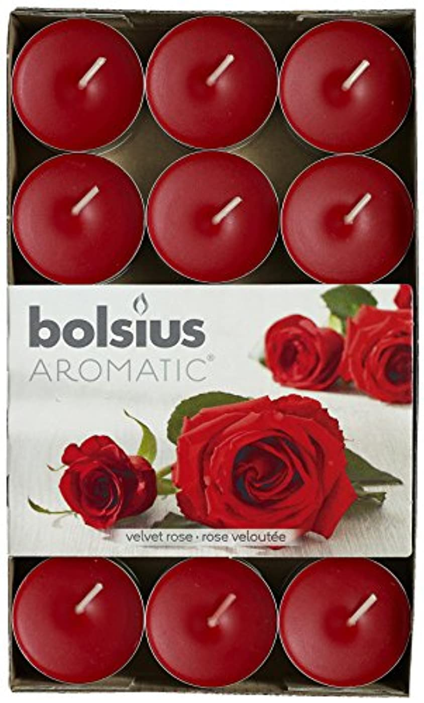 実質的に非行噛むAromatic Velvet Rose Scented Tealight, Paraffin Wax, Red by Aromatic