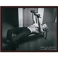 マリリンモンローwith Weights by Philippe Halsman Pumping Ironアートプリントフレーム付き
