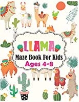 Llama MAZE Book For Kids Ages 4-8: Maze Activity Book for Kids | Beautiful Llama Maze Book for Smart Kids