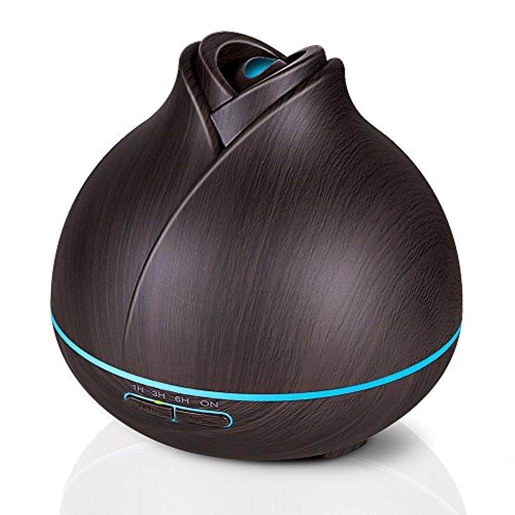 パースブラックボロウポインタウミウシエッセンシャルオイルディフューザー、400ミリリットル電気超音波クールミスト加湿器アロマディフューザー、7色LEDライト付き空気清浄機