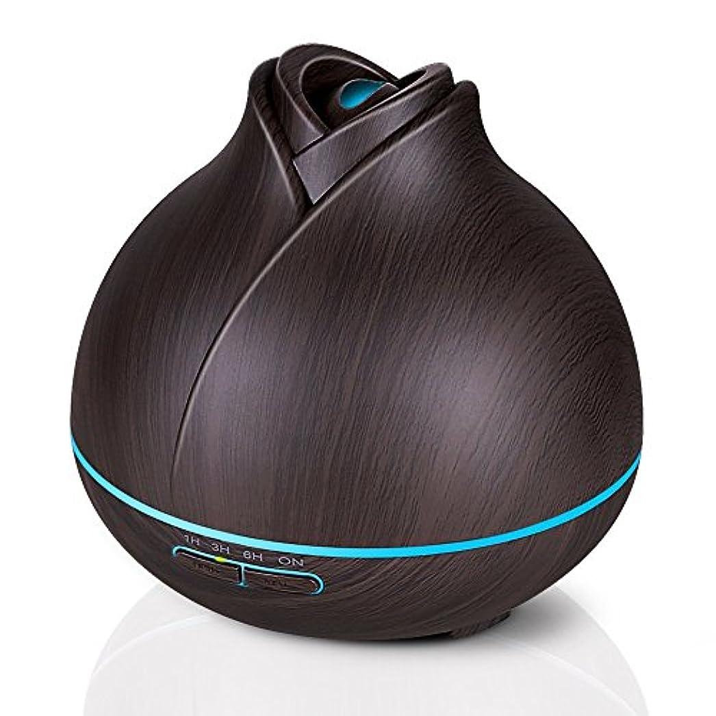 有効化本質的にスポットエッセンシャルオイルディフューザー、400ミリリットル電気超音波クールミスト加湿器アロマディフューザー、7色LEDライト付き空気清浄機