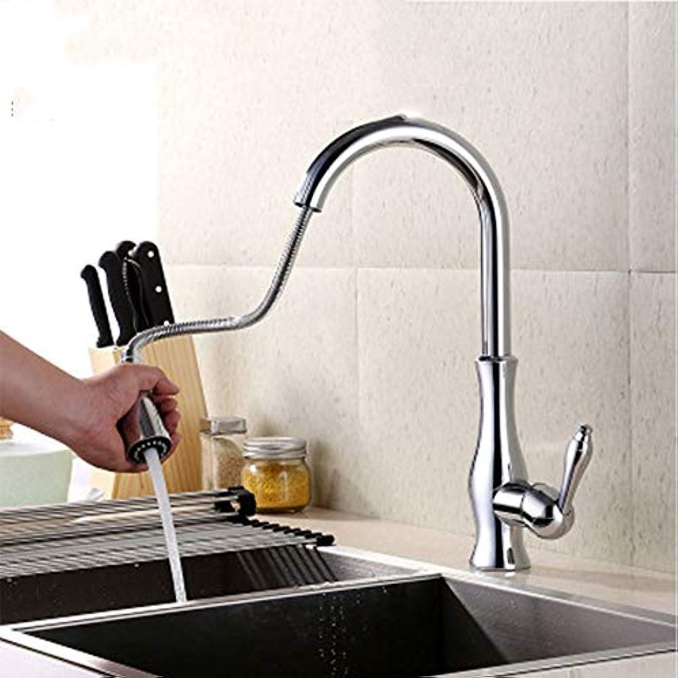 効果的比喩柔和台所は熱いおよび冷水のコック/普遍的な回転可能な2つの水栓/ 2つの冷たいヒートパイプを送ります 銅素材とセラミックバルブコア耐久性 作りがいい
