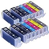 インクのチップスオリジナル製品 キヤノン(CANON) BCI-351XL+350XL/6MPx2+BCI-350XLPGBKx2 6色が2セットと黒が2本の14本セット 互換インクカートリッジ フラストレーションフリーパッケージ FFP
