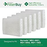Vornado MD1-0001, MD1-0002, MD1-1002 Humidifier Wick Filter. Designed by FilterBuy to fit all Vornado Evaporative Humidifiers. Pack of 6 Filters. by FilterBuy