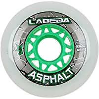 Labeda WheelsインラインローラーホッケーGripperアスファルトアウトドアホワイト80mm 83a x1