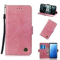 Samsung Galaxy S9 シェル フリップ カバー 耐久保護ケース, Happon シェル の Samsung Galaxy S9-Pink