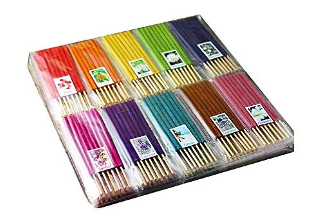 国内のメンターラボお香 手作り 天然 タイ 人気香10種類セット 植物 お徳用 400本 ライジュ (10種セット)