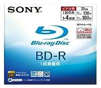 SONY ブルーレイディスク 録画用 BD-R 追記型 1層 4倍速 25GB 1枚パック ホワイトワイドプリントエリア採用 BNR1VBPJ4