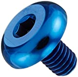 カラーチタン ボタン六角穴 低頭ボルト ブルー M6×L10 P1.0 【4本セット】 619BBC61010LBL-4