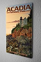 [ZUNYI]ブリキ 看板グローブトロッターアカディア国立公園壁の装飾、家、パブ、ビール、ガレージ、庭、コーヒー[20x30cm]