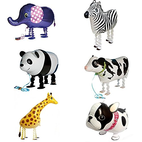 [해외]Signstek 걷기 동물 알루미늄 풍선 6 종 세트 생일 파티 장식이나 아이들의 선물로 최고/Signstek walking animal aluminum balloon 6 kinds set birthday party decoration and best for gifts for children