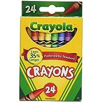 3 x Crayola 24 Countボックスofクレヨン非毒性色カラーリングSchool Supplies ( 3パック)