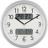 CITIZEN (シチズン) 電波掛け時計 ネムリーナカレンダーM01 シルバーメタリック 4FYA01-019
