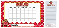 "Maryland Terrapins 9 "" x 15 ""モロッコDry Erase Calendar and 4 "" x 10 "" Dry Erase Board"