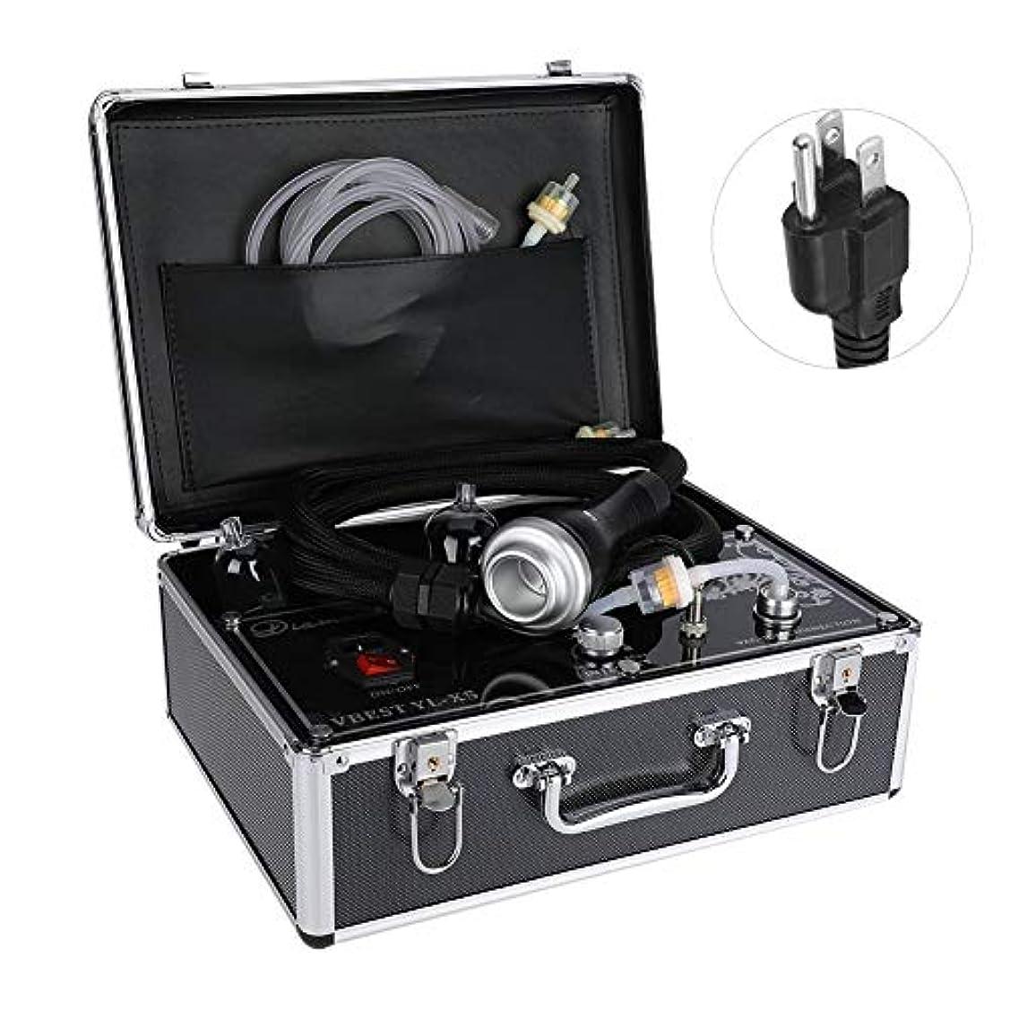 聞くフラップラッチ否定的な圧力マッサージャー、ボディ解毒の浚渫の痛みのための熱い圧縮のこするカッピング療法の電気マッサージャー(US Plug)