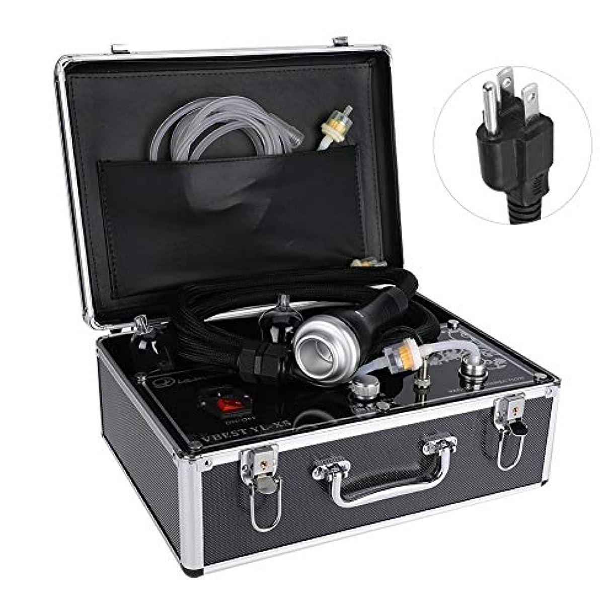 逃げる受け皿ポール否定的な圧力マッサージャー、ボディ解毒の浚渫の痛みのための熱い圧縮のこするカッピング療法の電気マッサージャー(US Plug)