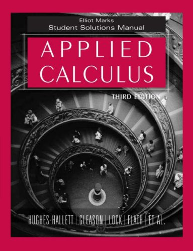Download Applied Calculus, Student Solutions Manual 0471739251