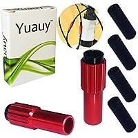 Yuauy 2 PC Red Proミニインライン自転車ケーブルアジャスター、エンドキャップ付き