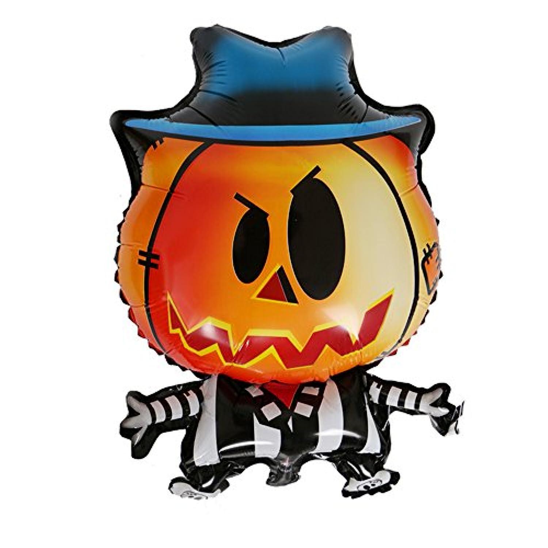 Skyllc ハロウィンの装飾漫画カボチャの男のアルミバルーンパーティの装飾品