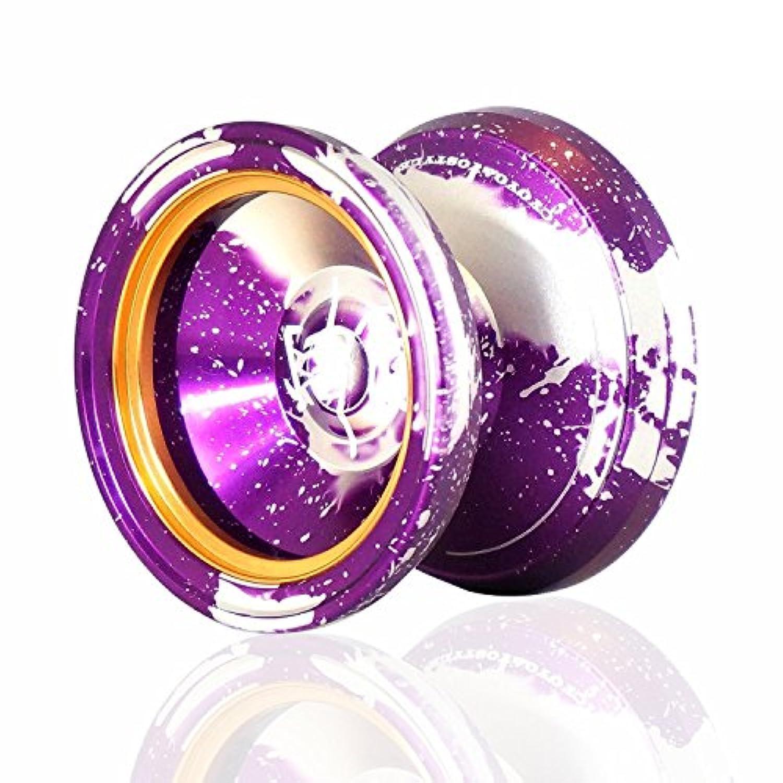 MAGIC YOYO マジックヨーヨー スタイルM002 アシッドウォッシュカラー アルマイト表面とステンレスセンターベアリング 紫+シルバー