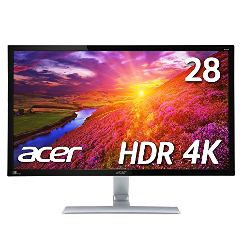 Acer HDR対応 4K モニター ディスプレイ RT280KAbmiipx (TN/非光沢/3840x2160/4K/16:9/1ms/HDR10/HDMI2.0×2/DisplayPort v1.2)