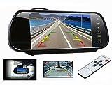7インチ ルームミラーバックモニター バックカメラ自動切換え機能付きリモコン付き タッチボタン TFT/LCD液晶