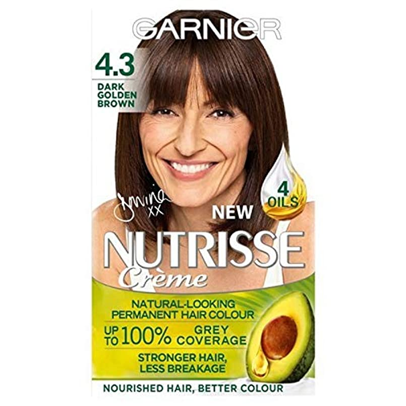 まあ階段無心[Garnier ] 4.3濃い黄金色ガルニエNutrisseパーマネントヘアダイ - Garnier Nutrisse Permanent Hair Dye Dark Golden Brown 4.3 [並行輸入品]