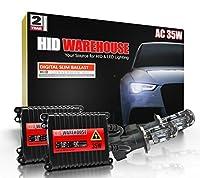 HID-Warehouse AC 35W HID Xenon Conversion Kit with Premium Slim Ballast - Bi-Xenon H4/9003 5000K - Bright White - 2 Year Warranty [並行輸入品]