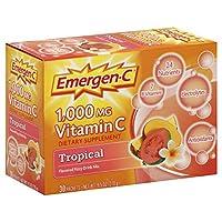 【2箱】Emergen-C 1000 mg Vitamin C パウダー エマージェンーC Mix Tropical (ミックストロピカル味)   8.4g x 30包 海外直送品