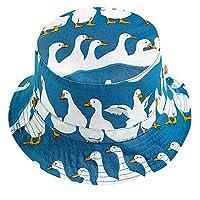Lutents キャップ 帽子 子供 ベビー用 サファリハット つば広 女の子 男の子 可愛い サンハット 3ヶ月~5歳 日よけ 紫外線対策 通気性 キッズ オールシーズン キュート 上品 春夏 旅行 UVカット プレゼント 海遊び ビーチ (ダック柄, 54)