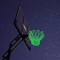 ZILONG バスケット ゴール ネット レジャー ファミリースポーツ 日光吸収 夜光ネット バスケット リング バスケット ネット 光 夏休み 昼間に40分以上で太陽光を吸収して光ります