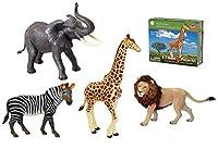 Smithsonian e-z構築パズル–4Pieceサファリセット–象、キリン、ライオン&ゼブラ