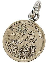 本物のスペインのコインペンダント(3) シルバー925製 銀 硬貨メンズ レディース アクセサリー