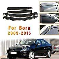 のために適した フォルクスワ ー ゲン Volkswagen Bora Sedan ボーラ セダン 2009-2015 4個 ドアバイザー サイドバイザー ワイドタイプ スモーク雨除け 換気 パーツ アクセサリー