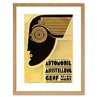 Ad Motor Car Automobile Show Geneva Switzerland Framed Wall Art Print モーター自動車ショースイス壁