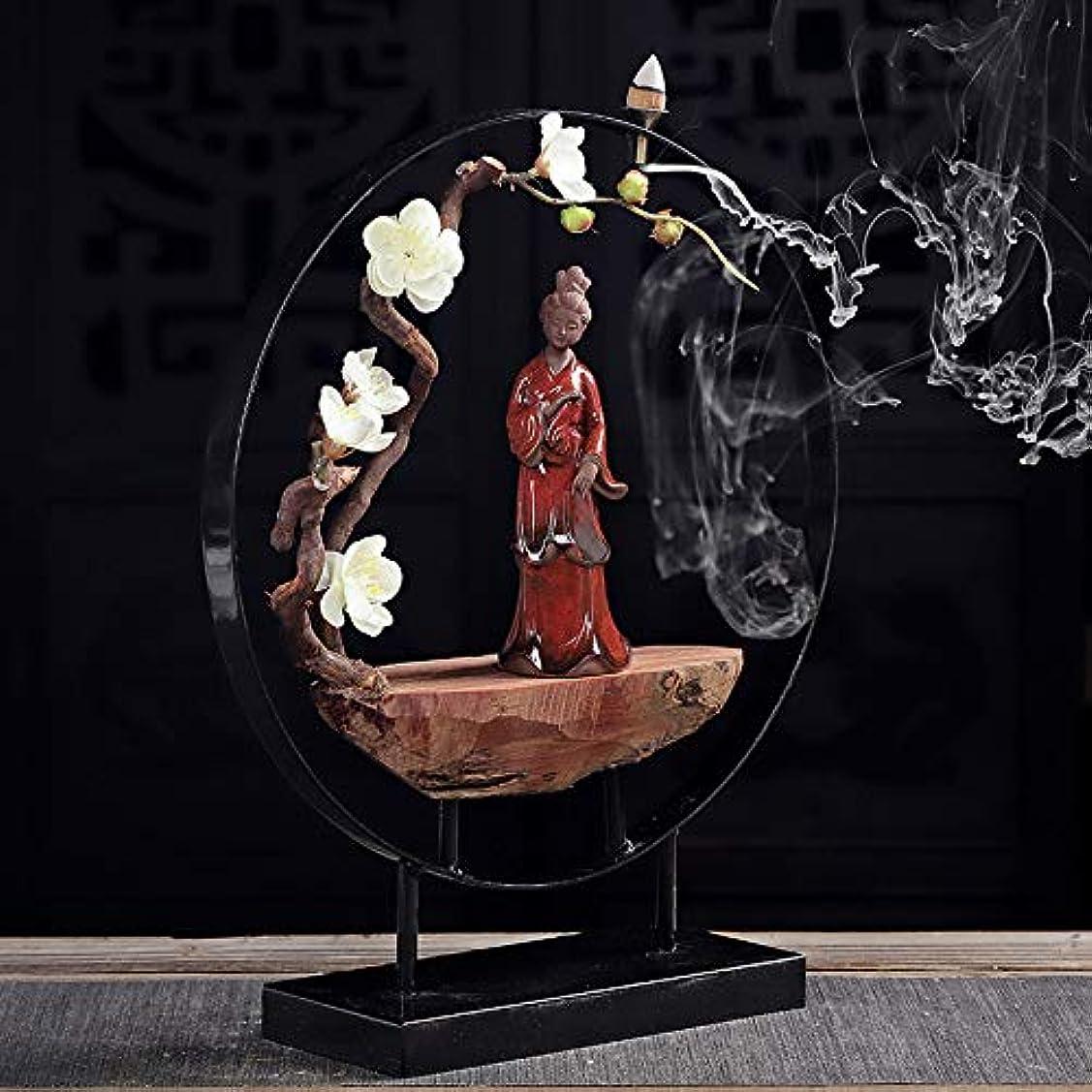 送信する風が強い貞デュアルユーススティック香炉とコニカル香炉セラミック香炉像逆流香バーナーフレグランススティックフレーム30 * 35センチ