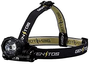 ジェントス LED ヘッドライト 【明るさ26.6ルーメン/実用点灯10時間/防滴】 リゲル GTR-731H