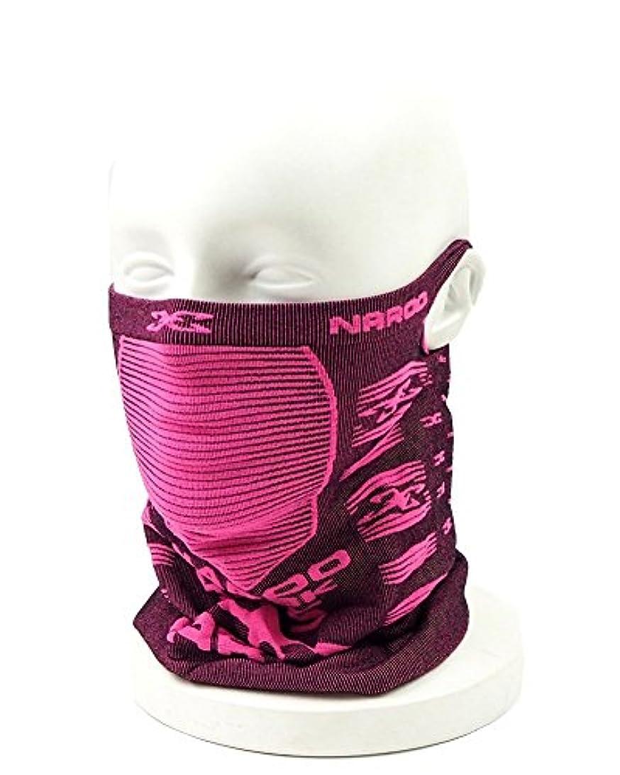 やろうゲート調整可能NAROO(ナルー)スキー スノーボード フェイスマスク「X Band 5+ mask」エックスバンド5プラスマスク(ブラック×ピンク)