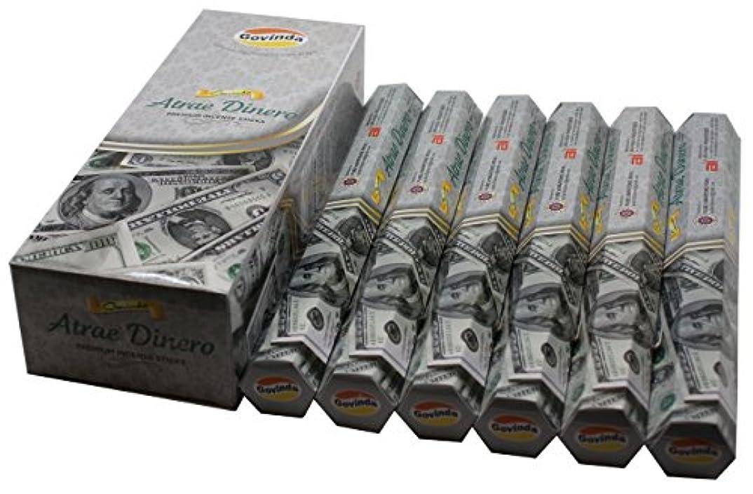 メトリック貸し手再生的Govinda ® Incense – Atrae Dinero ( Attract Money ) – 120 Incense Sticks、プレミアムIncense、Masalaコーティング