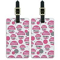 モーガンこんにちは、私の名前は荷物のスーツケースキャリー-に ID Tags 2本セット