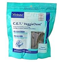 C.E.T. VeggieDent Chews, Regular, 30 Chews by Virbac