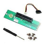 Damine PCI - E 1X / 4xカードto NGFF M。2m Key PCIeスロットアダプタサポートタイプ2260, 2280SSD