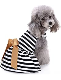 URIJK ペット用服 犬服 猫服 ドレス ワンピース スカート 小中型犬 レース 洋服 肌触りいい かわいい 多色