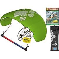 hq4 Fluxx 1.8 MトレーナーKite TR Plus Kitesurfing DVDバンドル( 4 Items ) Includes Progression初心者Kiteboarding Instructional Dvd + WindBone Kiteライフスタイルデカール+ WindBoneキーチェーン: Foil Traction