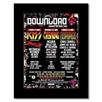 DOWNLOAD FESTIVAL - 2008 - Kiss Offspring Lost Prophets Mini Poster - 28.5x21cm