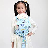 Baby Doll Carrier Mei Tai Sling Toy For Kids Children Toddler Front Back,Mini Carrier Birthday Christmas Gift, (Dinosaur) …