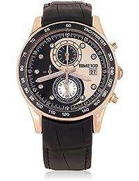 Time100  受賞人気メンズ腕時計 カレンダー タイマ ストップウオッチ 50M防水  夜光インデックス メンズ腕時計 スポーツ  W80151G (シルバー バラゴールト) (ゴールド)