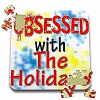 ブロンドDesigns Obsessed with–Obsessed with the Holidays–10x 10インチパズル( P。_ 241814_ 2)