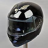 GXB-339B ブラック 黒 Japan Mサイズ相当 (商品はEU L表示)  フリップアップ フルフェイスヘルメット: ダブルレンズ ダブルシールド (インナースモークシールド)  フリップアップヘルメット システムヘルメット ヘルメット