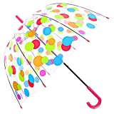 Kung Fu Smith雨傘 レディース 軽量 おしゃれ こども ドーム型 ビニール傘 透明傘 バブルアンブレラ Bubble Umbrella 長傘 バードケージ ジャンプ傘 8本骨雨傘 メンズ 小さな丸